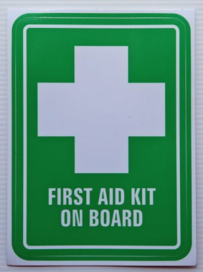 Vehicle Sticker First Aid Kit On Board