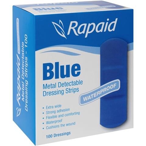 Rapaid Blue Bandaids Pkt 100